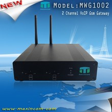 2 SIM Card/Channels Voip GSM Gateway with 2 SIM Cards VOIP 2 Support VPN