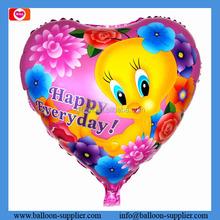 18 inch printed balon flower boarder love foil balloons for valentine's gift