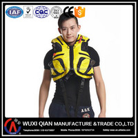 Inflatable life vest for fishing, swimming, diving