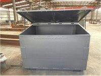 Scrap metal waste bin with cover / skip bin container