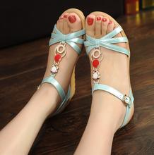 W30020H 2015 latest ladies sandals design cheap wholesale wedge sandals
