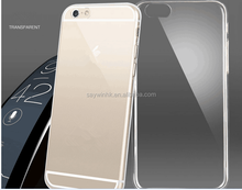 New Style transparent ultrathin silicon mobile phone back cover for iphone 6