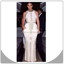 white beading new products 2015 innovations evening dress bandage dress