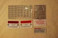 Electronic Appliance Caution Label Sticker of Japanese Standard