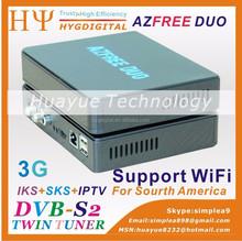 Azfree duo 3G iks sks satellite receiver south america
