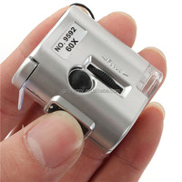 Brand New 60X Microscope Illuminated Magnifier Glass Jeweler Loupe Lens with LED UV Light + 3 LR43 Button Batteries + Case