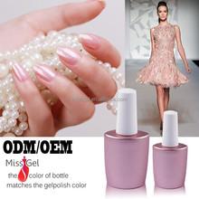 Wholesale glitter color nail gel ,private label uv nail gel (OEM)