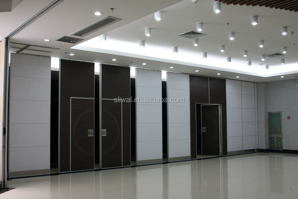 China aluminium movable sliding interior door sound proof for Retractable walls commercial