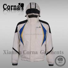 Chinese garment factory hood windproof mens best cheap descente ski jacket
