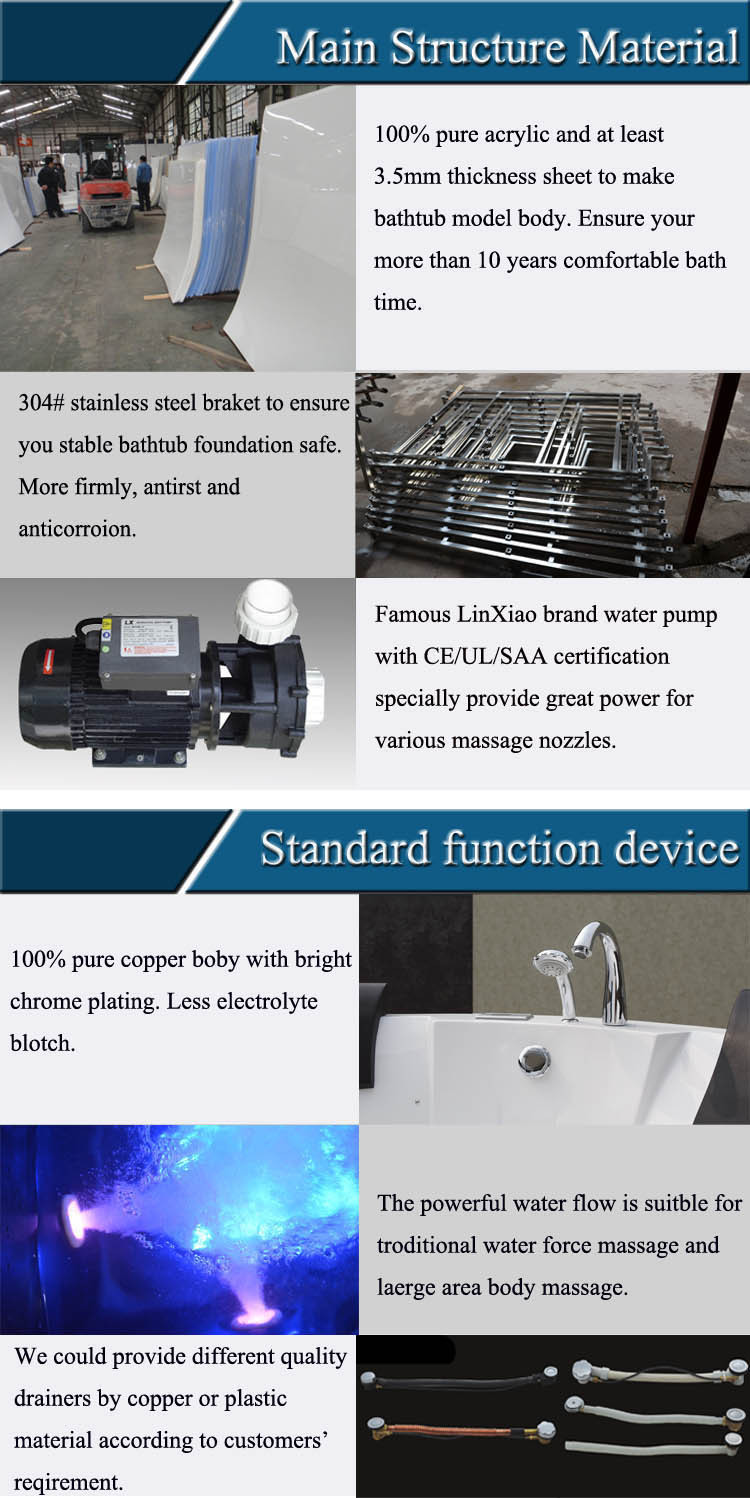 HS-B1617T best selling China hydro japan sex massage tub with control panel for one person