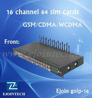 Quad Band cdma 800/1900 MHZ 16 port VoIP Gateway GOIP IMEI Changeable For SIM Bank support vpn