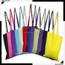 100% QC Eco-friendly natural long handle cotton bag