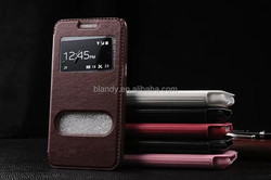 Luxury View Window Case PU Leather Flip Cases with stand For Samsung Galaxy Grand Prime G530 G530W