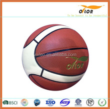 adult rubber outdoor / indoor basketballs