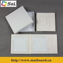 Wholesale wedding CD album gift use elegant DVD box leather CD folios single CD case