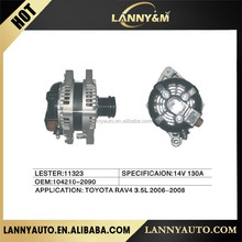 104210-2090 Toyota alternator , Auto parts 14V 130A alternator for Toyota LESTER:11323