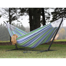 Double Brazilian Hammock With Steel Stand hammock with metal frame