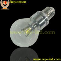 Clear glass 3W 5W 7W e27 b22 led bulb a19