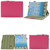With Hand Strap New Hot PU Leather Flip Tablet Case For Ipad 5