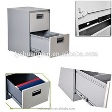 Plastic handle 2 drawer metal cabinet/convenient small steel file cabinet