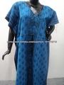 vestidos de noite, vestidos casuais e kaftans de algodão impresso longo indiano feito vestidos de túnicas