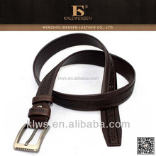 2014 hot selling pu belt with alloy buckle/made of microfiber material