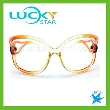 Fashion modeling sunglasses 2015 unique design trasparent orange and yellow spectacle frames sex products