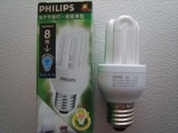 Philips CFL Genie 8W E14 2700K/6500K fluorescent bulb/lamp up to 80% energy saving