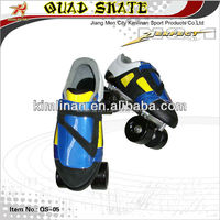 Double Row Quad Roller Skate, PU Wheel, Inline Speed Skate