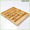 Excellent bamboo knife storage tray /expandable silverware tray/ HOMEX