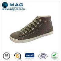 High quality stylish black men canvas shoes