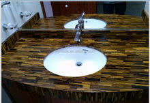 High quality natural stone bathroom sink countertop
