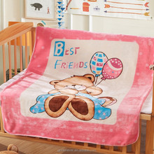 100% polyester printed flannel fleece super soft baby throw blankets thermal blanket for baby