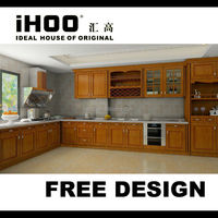 Solid Wood Modulated Kitchen Cabinet Hot Sale