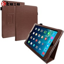 Brown Folio Pouch Case Cover Stand for Apple iPad Air
