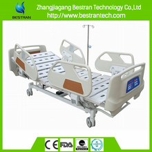 China supplier BT-AE017 Five Functions linark Electric hospital icu beds medical patient clinic bed with ABS side rails
