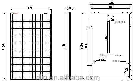 95 w poly panneau solaire 18 v flexibile dimension est acceptable ningbo anneau solaire co. Black Bedroom Furniture Sets. Home Design Ideas