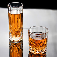 transparent clear glass drinking tumbler cup