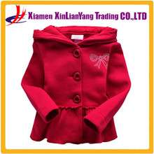 children's fleece sweater winter jacket DRESS European and Americanchildren girls wild solid long sleeve hoodie flouncing