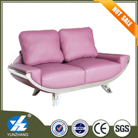 pink modern italian style sofa living room furniture
