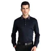k-boxing brand 100% cotton dark blue man formal polo shirt