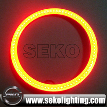 Super quality multicolor rgb cob ring,remote wireless cob rgb angel eyes