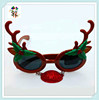 Novelty Cheap Plastic Funny Reindeer Christmas Glasses HPC-1835