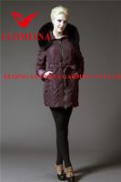 china european stylish women short uncapped goose/duck down jacket