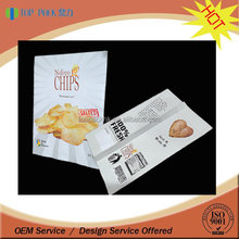 custom printed laminated plastic flat bags chips crisp packets