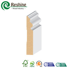 Carved Primed Pine Solid Wood Timber Skirting Board Moulding