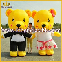 Wholesale Adult Inflatable Bear Walking Costumers, Inflatable Teddy Bear Cartoon