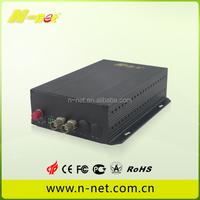 2 Channel Video +1 Channel Ethernet Fiber Optic Transceiver for Gun type camera cctv monitoring system