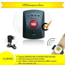 Hot!!! gsm emergency button elderly / children / sick emaergency Alert aid system