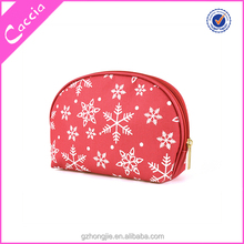 2015 modella PU leather combined mesh cosmetic bag with zipper closing wash\/toilet bag